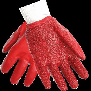 Red Pvc gloves Image