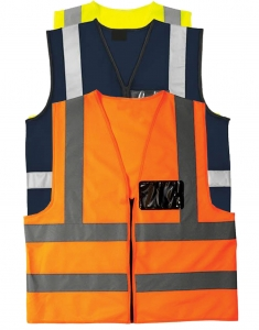 Reflective waist coats hi viz Image