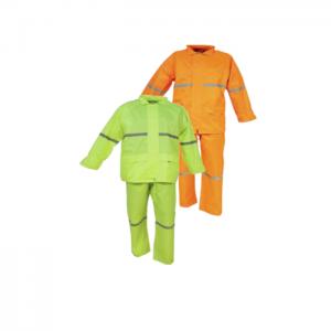 Rubberized rain suits 2 piece Image